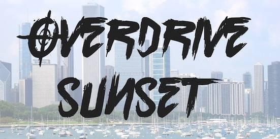 Overdrive Sunset Font