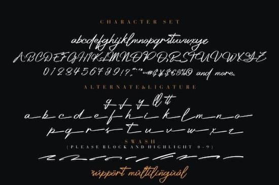 Platinum font