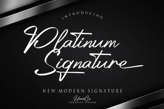 Platinum font free download