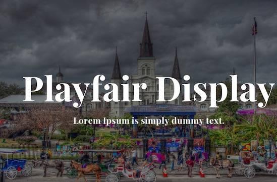 Playfair Display Font Family