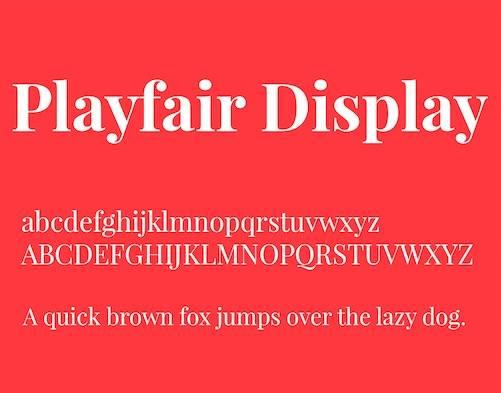 Playfair Display Font download