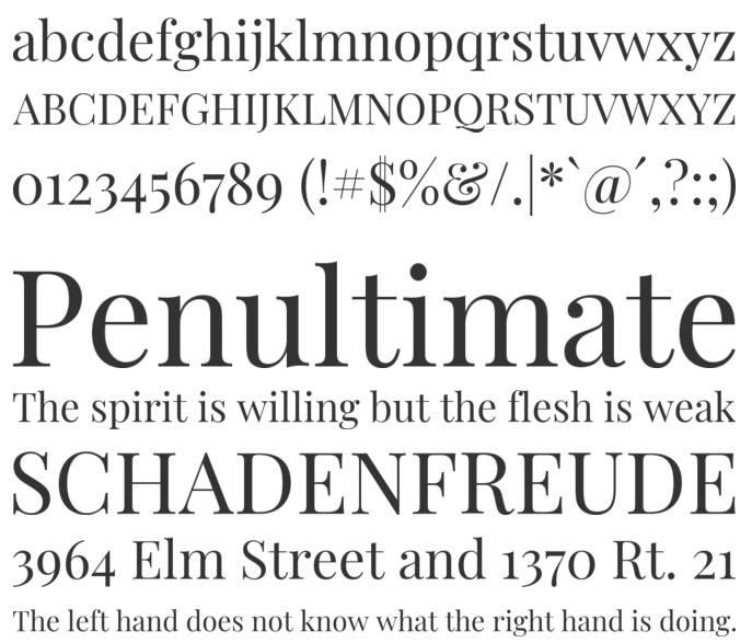 Playfair Display Font