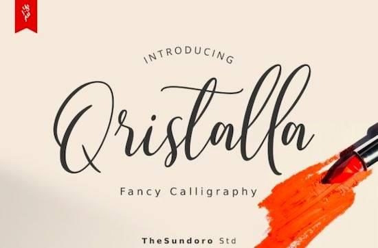 Qristalla font free download