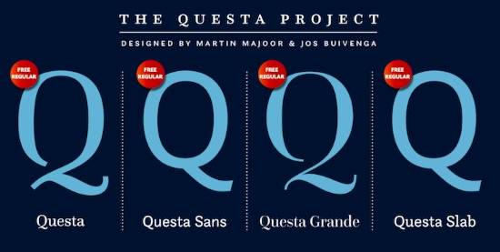 Questa font family free download