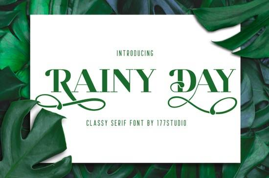 Rainy Day font free download