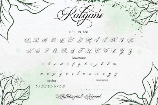Ralgani font free