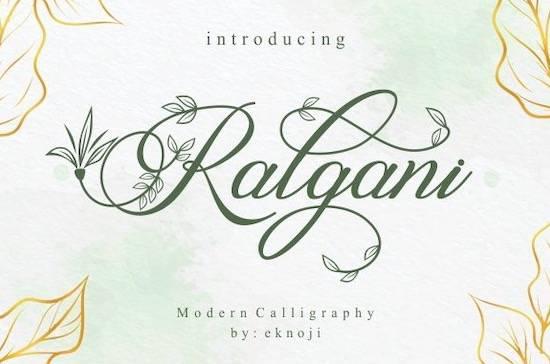 Ralgani font free download