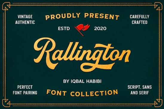 Rallington font free download