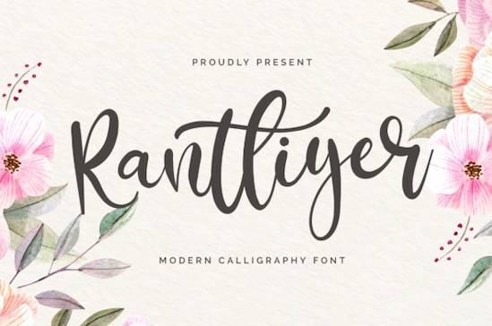 Rantliyer font free