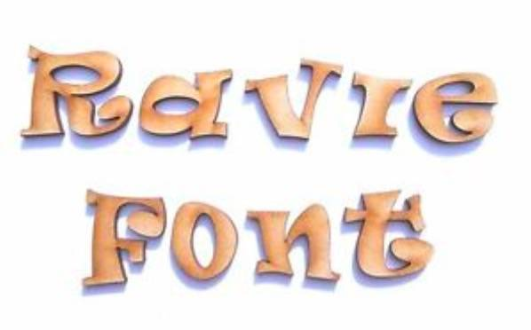 Ravie font features