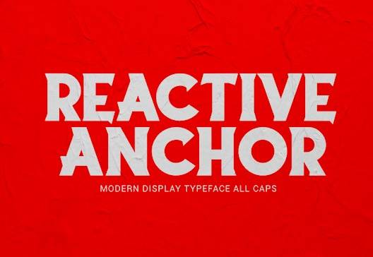 Reactive Anchor Font free download