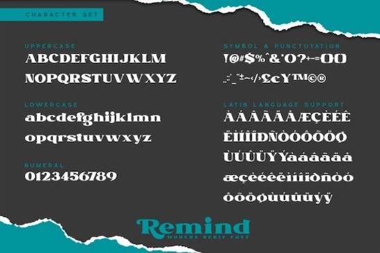 Remind font free