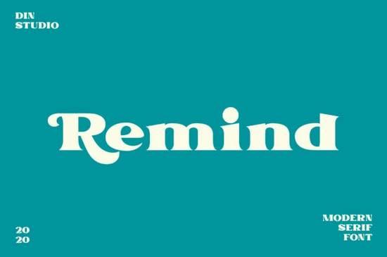 Remind font free download