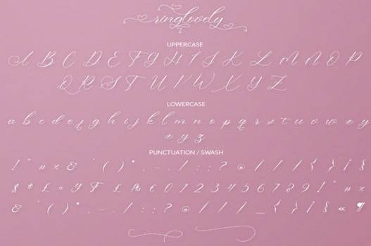 Ringlovely Font free