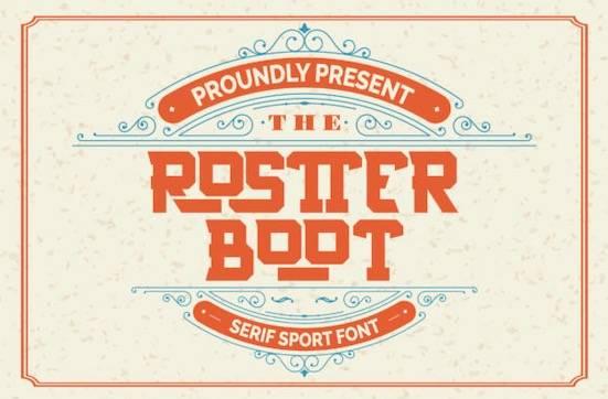Rostter Boot font free download