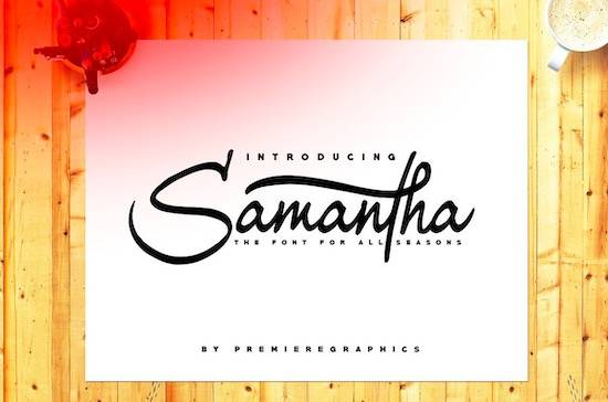 Samantha font free download