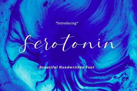 Serotonin font free download