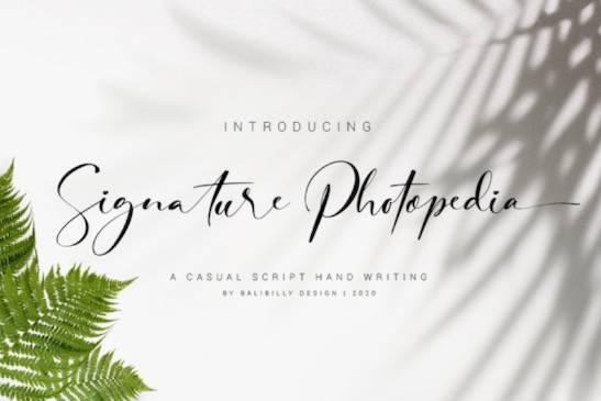 Signature Photopedia Font free download