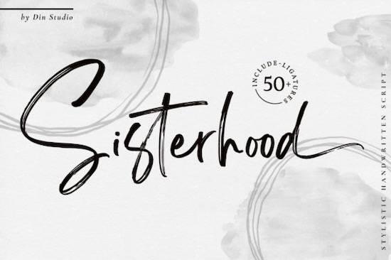 Sisterhood font free download