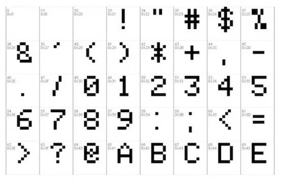 Space Invaders font download