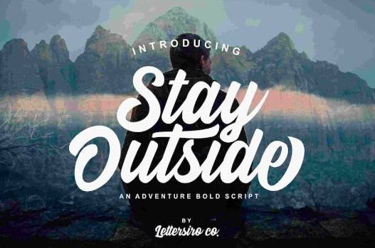 Stay Outside Font