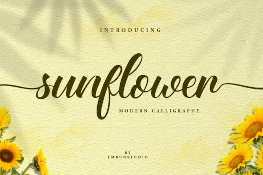 Sunflower Font free download