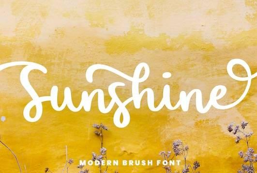 Sunshine Font download