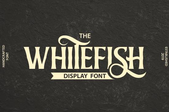 The Whitefish font free download