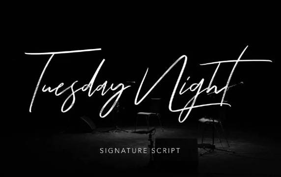 Tuesday Night Font features