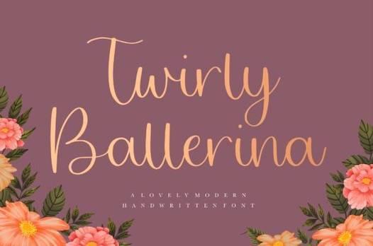 Twirly Ballerina Font download