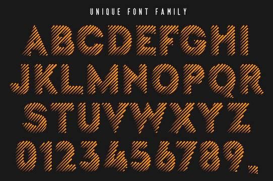 Unique font download