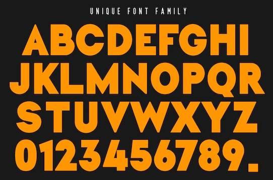 Unique font free