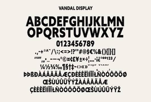 Vandal Sans Serif Display Font free