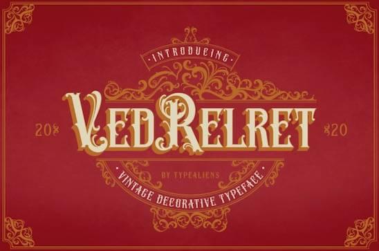 Ved Relret Font free download