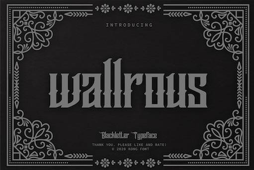 Wallrous Typeface free download