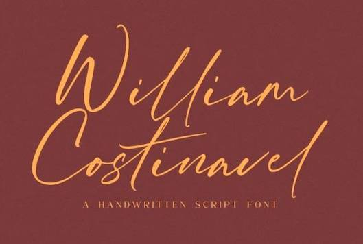 William Costinavel font free download