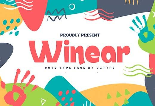 Winear Font free download