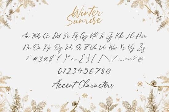 Winter Sunrise font free