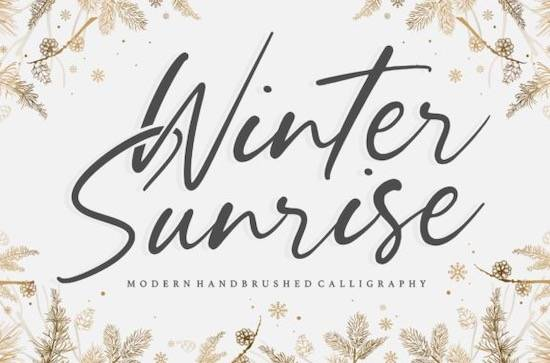 Winter Sunrise font free download