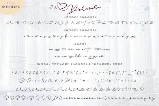 Yolanda font free