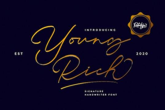 Young Rich font download