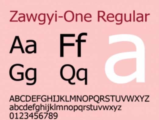 Zawgyi One TTF