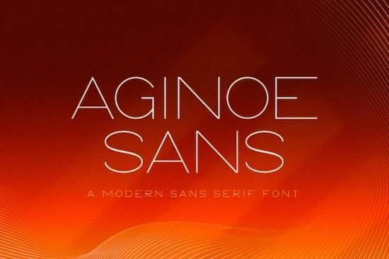 Aginoe font family free download