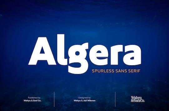 Algera Spurless font free download