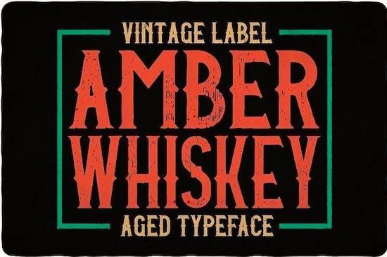 Amber Whiskey Font