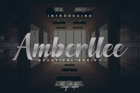 Amberllee font free download