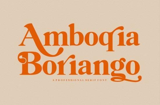 Amboqia Boriango typeface download