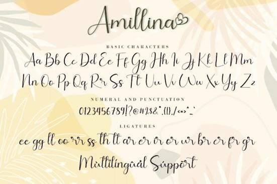 Amillina font free