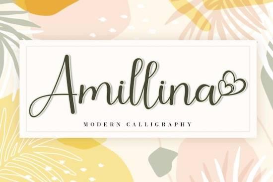 Amillina font free download
