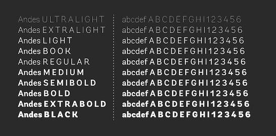 Andes font free